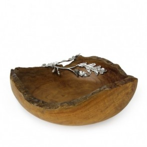 Acorn Leaf Wood Bowl 12""