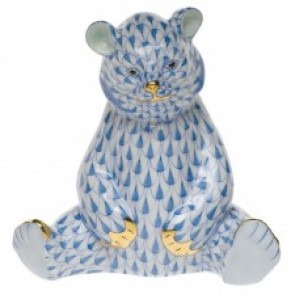"Bear Baby Sitting Blue 3.5""H"