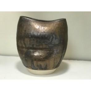 Flux Vase Oval Bronze Large