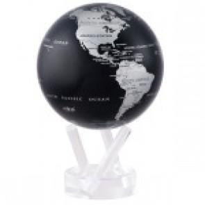 """Globe W/Base 4.5""""  Silver Blac"""