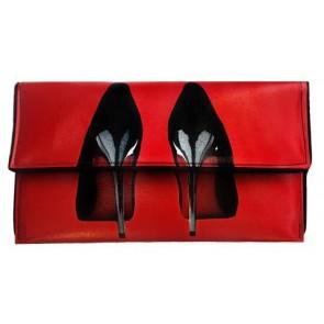 High Heels Red Clutch