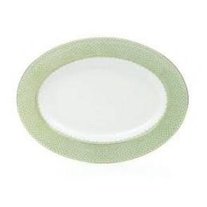 Lace Apple Green Oval Platter
