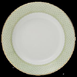 Lace Apple Green Rim Soup Bowl