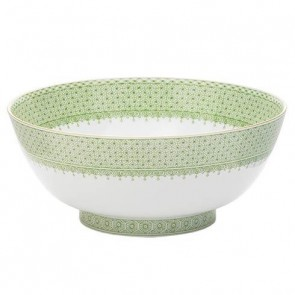 Lace Apple Green Round Bowl