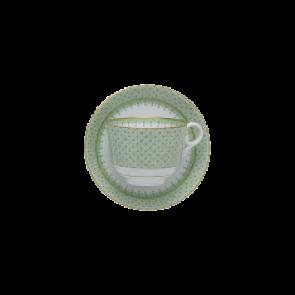 Lace Apple Green Tea Cup & Sau