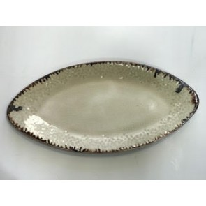 Parchment Med Oval Tray