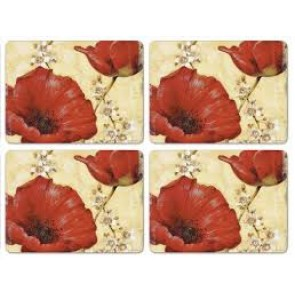 Poppies Placemat Set/4