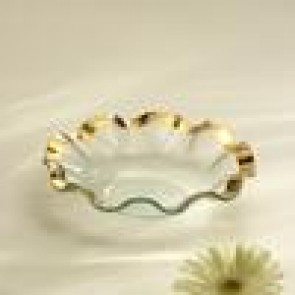 Ra Ruffle Gold Soup Bowl 10""